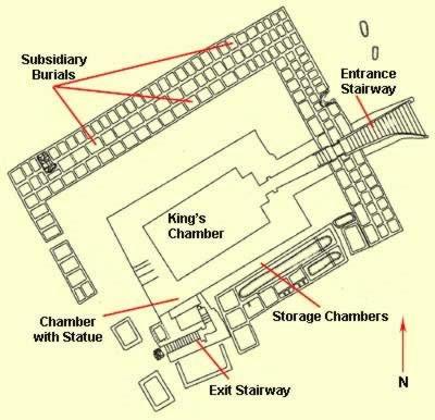 propaganda - King Den's tomb Floor plan