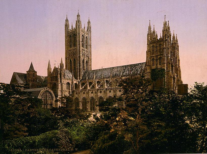 Samuel Ajayi Crowther - Canterbury Cathedral - View from the north west circa 1890–1900.