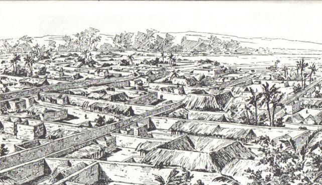 benin - aerial drawing
