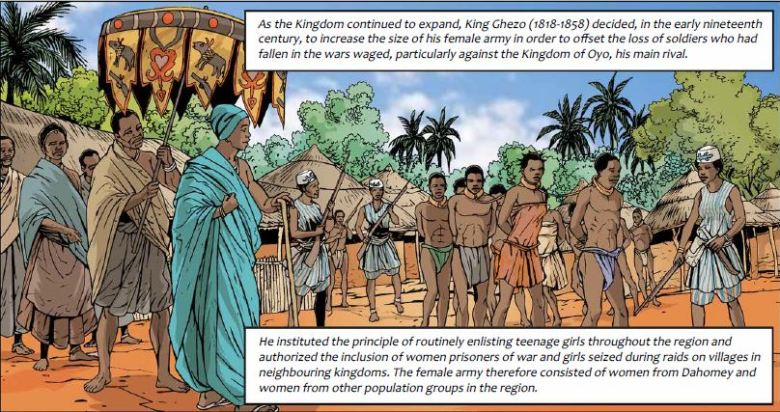 dahomey - majority female army