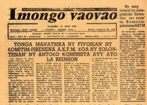 gisele pic2 An issue of the Imongo Vaovao newspaper, 1968