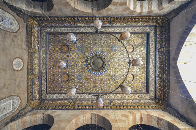 mamluk ceiling of mausoleum 2