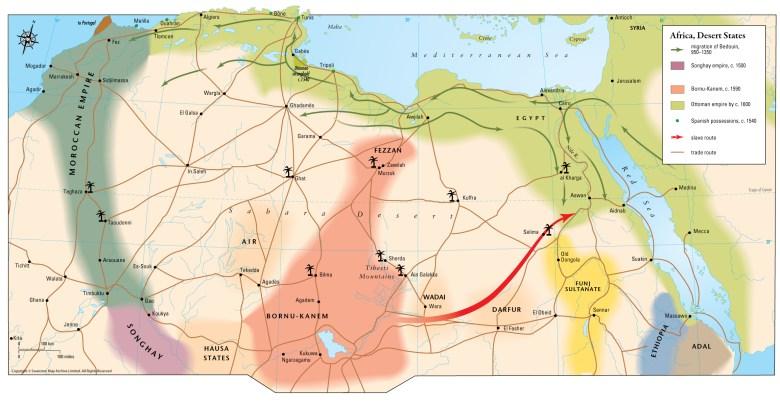 maparchive - Africa, Desert States c. 1350–1600