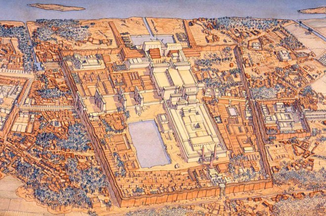 egypte-karnak - temple of amun and temple of montu-jc-golvin
