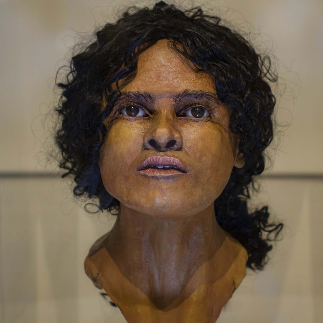 a photo of a reconstruction of an African lady