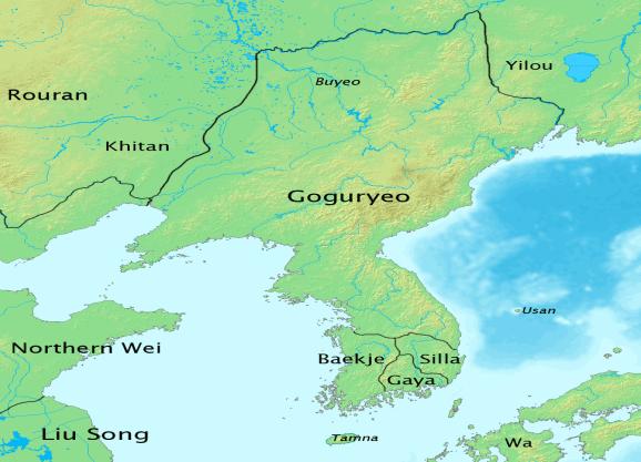 Goguryeo at its zenith c. 476.