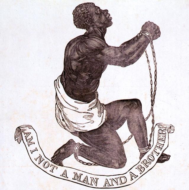 Wedgwood medallion of kneeling slave