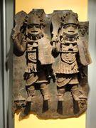 African soldiers in bronze