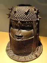 Bronze sculpture of an African Woman's Head