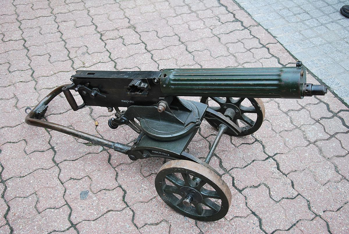 colonization of africa - Maxim gun