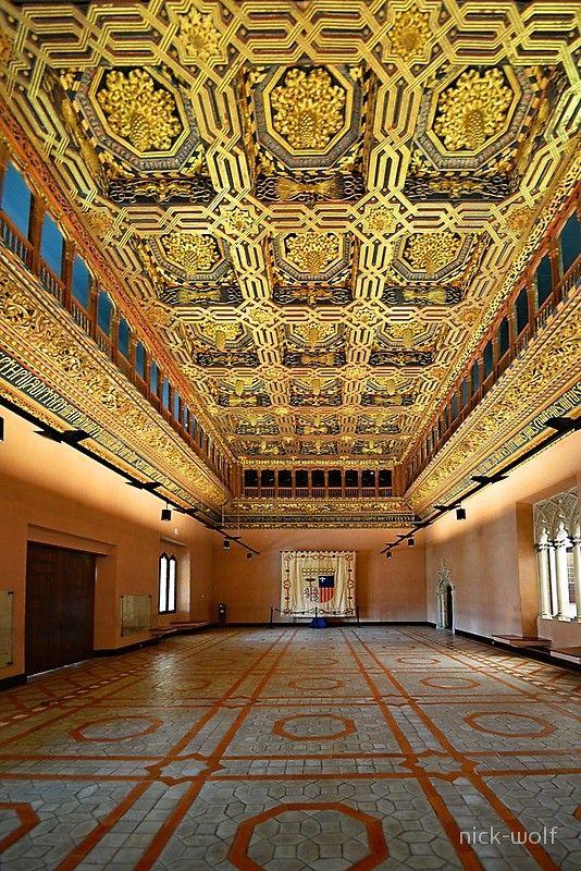 Zaragoza. Aljaferia Palace. The Throne Room.' Photographic Print by  nick-wolf