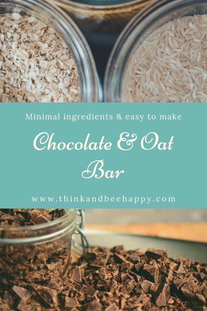With minimal ingredients, this chocolate & oat bar is not only delicious, it's easy to make.