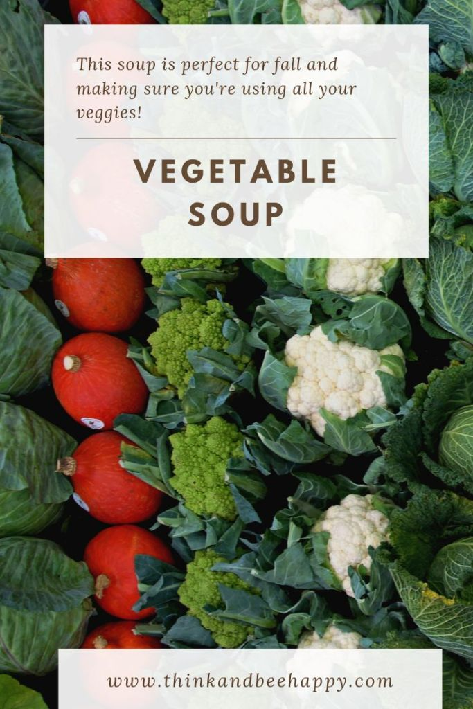 This vegetable soup is perfect for the fall and making sure you're using all your veggies.