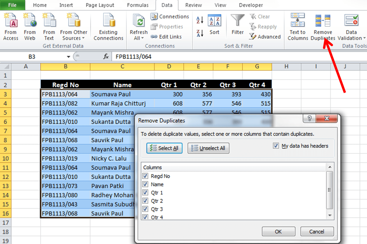How To Remove Duplicates From Excel