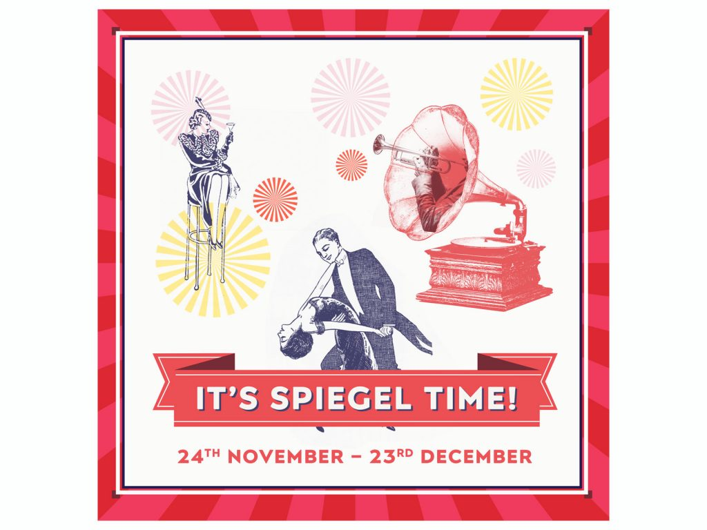 Christmas at the Spiegeltent Identity design 2017
