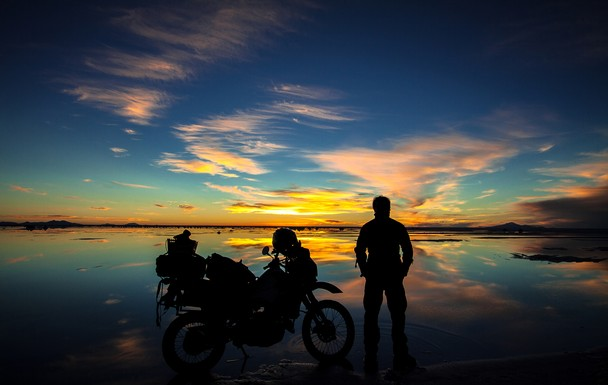 Twilight Biker