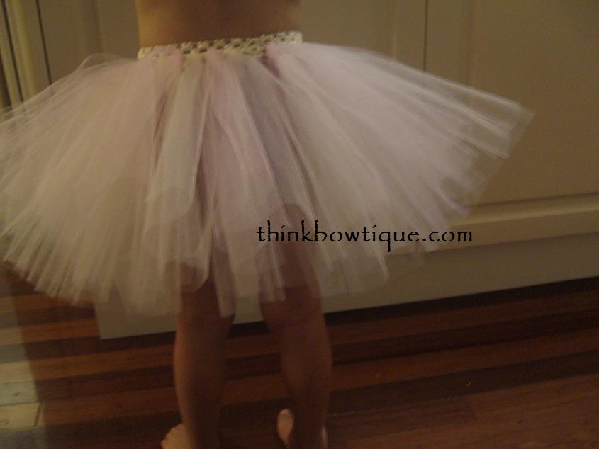 How to make a tutu with a crochet headband.