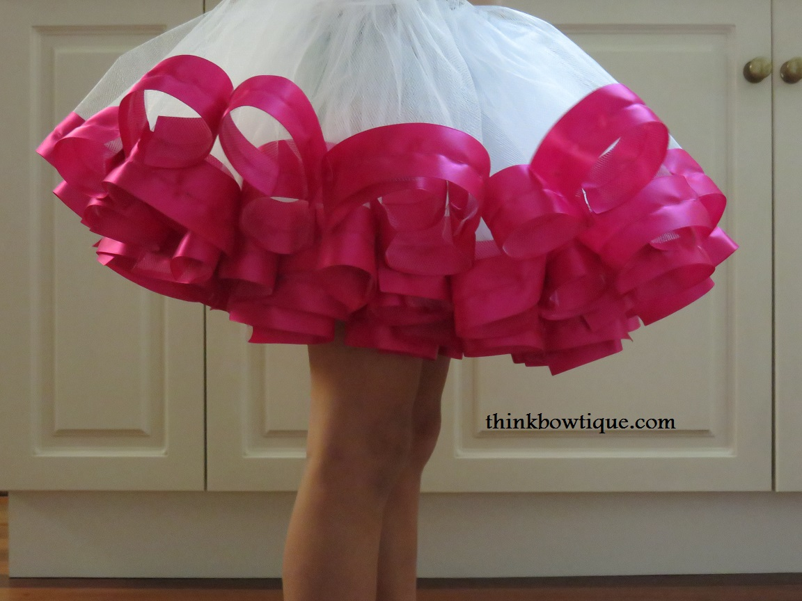 Make a ribbon trimmed tutu