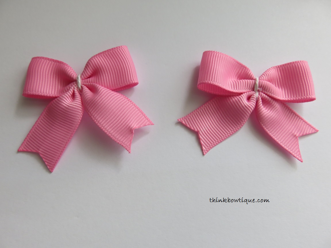 Make a bow tie hair bow with tails - Think Bowtique Blog