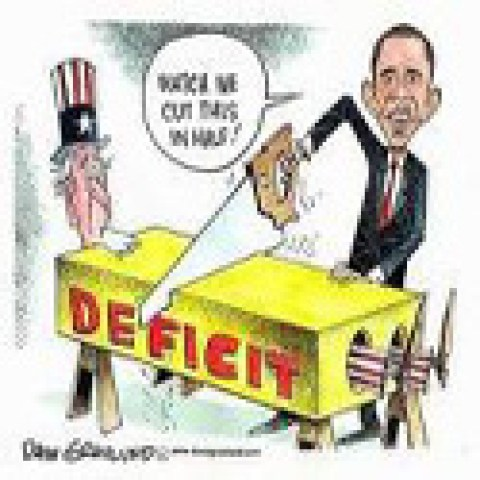 Obama to cut deficit in half… After quadrupling it.