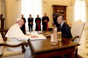 Pope Francis meets the Iraq President Barham Salih