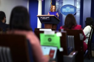 Biden Press Secretary Jen Psaki Briefs Media In Daily News Conference