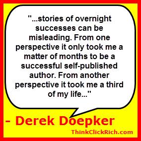 Derek Doepker Overnight Success Quote