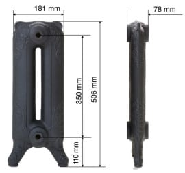 LEON 51 (Ύψος: 56,6 cm) BELLE EPOQUE Καλοριφέρ από χυτοσίδηρο
