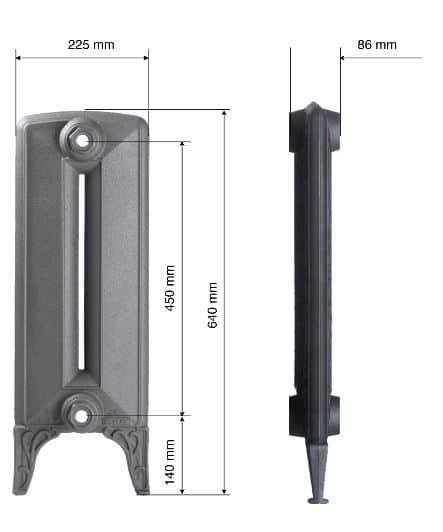 SAINT GERMAIN LISSE (Ύψος: 64 cm) BELLE EPOQUE Καλοριφέρ από χυτοσίδηρο