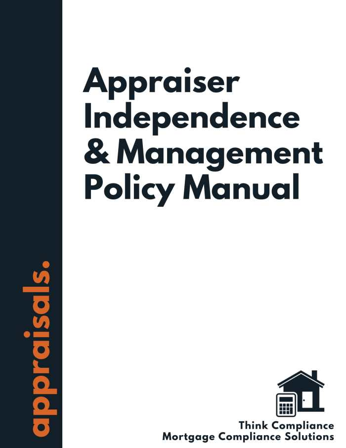 Appraiser Independence Policy Manual