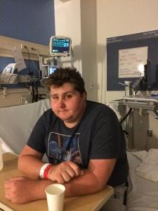 Sam O, at the hospital August. 2014.