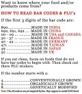 How to read BAR CODES and PLU's