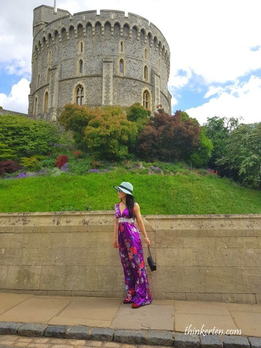 Iconic Round Tower in Windsor Castle