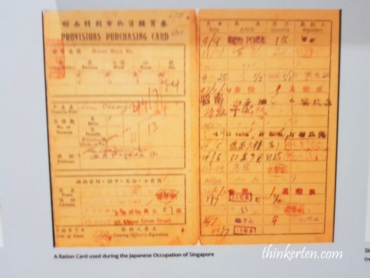 Ration card - Singapore Philatelic Museum