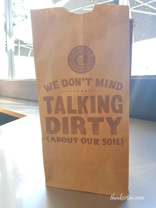 Chipotle Mexican Grill Paper Bag