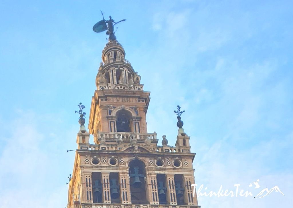 Seville Cathedral and Giralda Tower at Seville, Spain