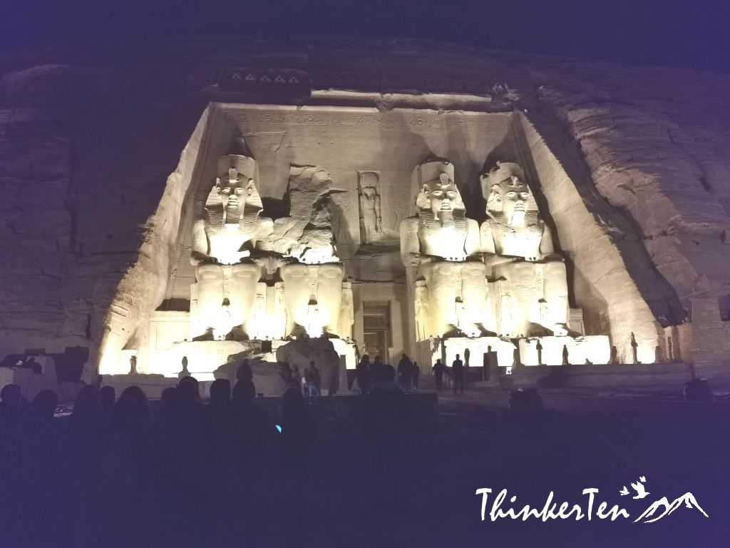 The two temples in Abu Simbel