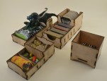 Cthulhu Wars Bits/Token Box, Spell/Gates Box and Cthulhu's Bed