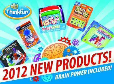 ThinkFun's 2012 New Products Banner