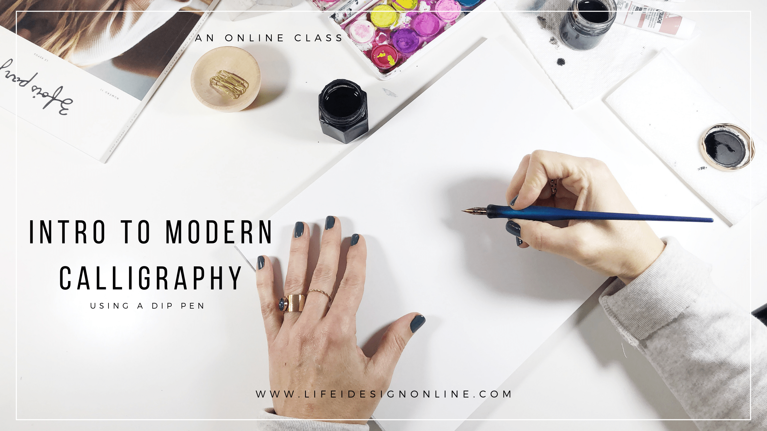 Free 5 Day Modern Calligraphy Challenge