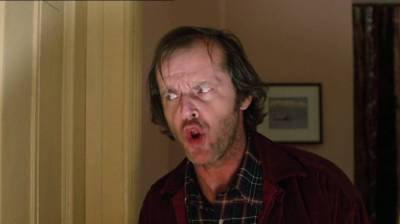 The Shinning - Jack Nicholson preppin' for The Shining