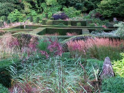 View across grasses, Veddw, copyright Anne Wareham for thinkingardens