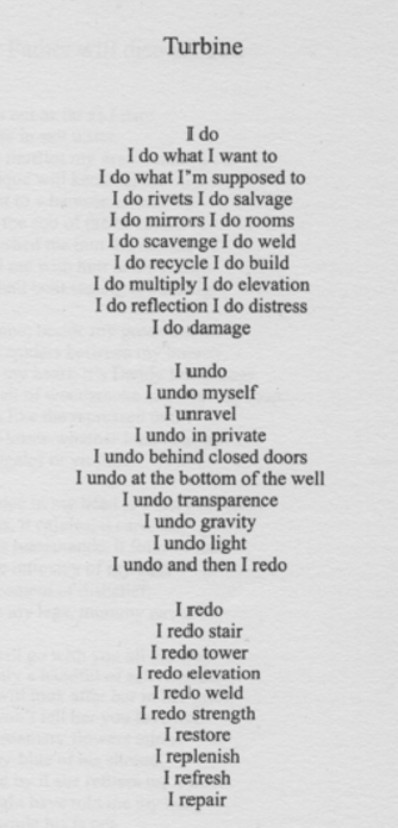 Turbine Poem