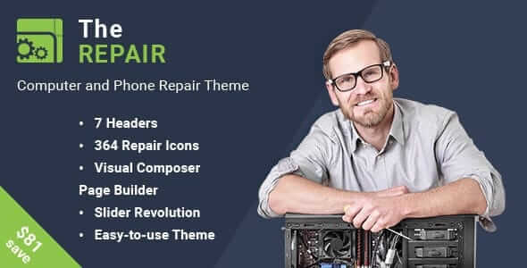 The Repair 2.9.1 - Computer and Electronic WordPress Theme