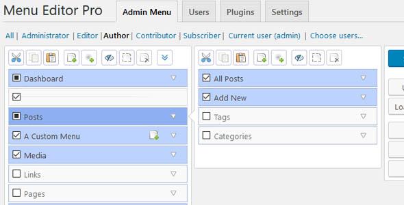 Admin Menu Editor Pro 2124 WordPress Plugin
