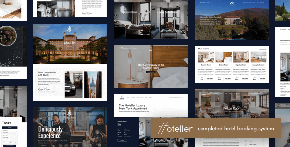 Hoteller 48 Nulled Hotel Booking Wordpress Theme