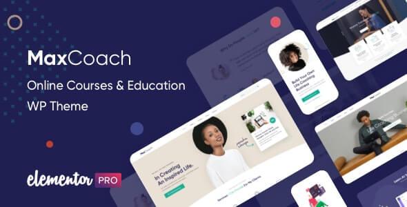 MaxCoach 150 Online Courses Education WP Theme