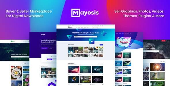 Mayosis 284 Digital Marketplace WordPress Theme