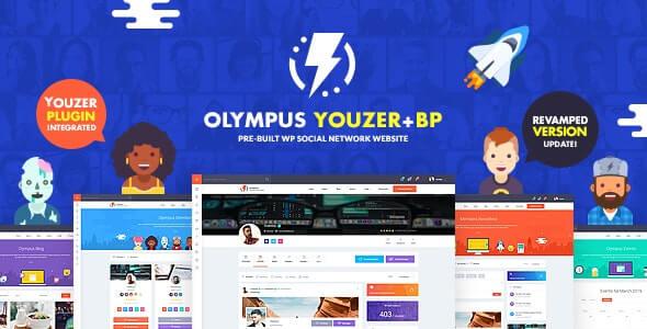 Olympus 37 Powerful BuddyPress Theme for Social Networking