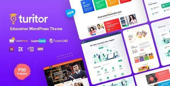 Turitor 128 LMS Education WordPress Theme